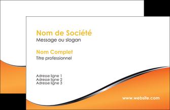 maquette en ligne a personnaliser carte de visite orange gris courbes MIF58854