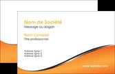 maquette en ligne a personnaliser carte de visite orange gris courbes MLGI58854