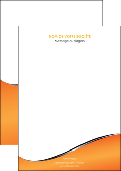 impression flyers orange gris courbes MLIG58856