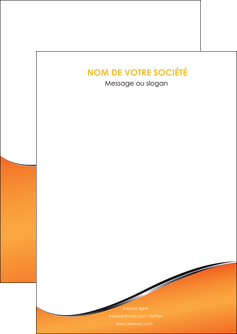 impression flyers orange gris courbes MLGI58858