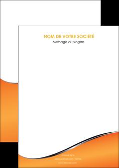 impression flyers orange gris courbes MLIG58858