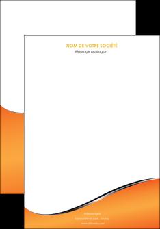 personnaliser modele de affiche orange gris courbes MIF58860