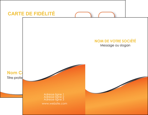 Realiser Carte De Visite Orange Gris Courbes MLGI58864