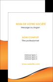 personnaliser modele de carte de visite orange gris courbes MLGI58865