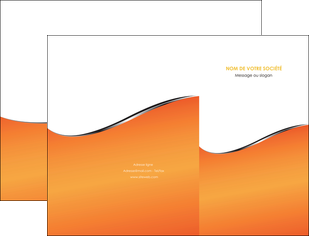 personnaliser modele de pochette a rabat orange gris courbes MLGI58866