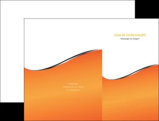 exemple pochette a rabat orange gris courbes MLIG58868