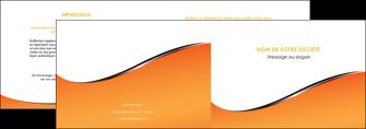 imprimer depliant 2 volets  4 pages  orange gris courbes MLIG58870
