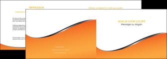 personnaliser modele de depliant 2 volets  4 pages  orange gris courbes MLIG58872