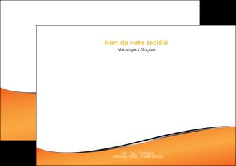 modele flyers orange gris courbes MLIG58878