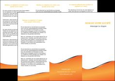 creer modele en ligne depliant 3 volets  6 pages  orange gris courbes MLIG58880