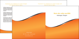 imprimerie depliant 2 volets  4 pages  orange gris courbes MLGI58884