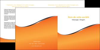 imprimerie depliant 2 volets  4 pages  orange gris courbes MLIG58884