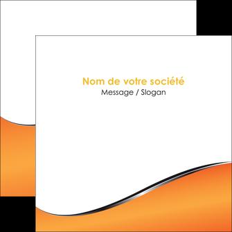 maquette en ligne a personnaliser flyers orange gris courbes MLIG58886