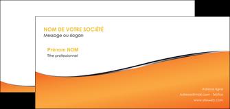 personnaliser maquette carte de correspondance orange gris courbes MLGI58892