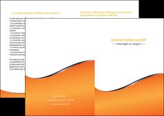 creer modele en ligne depliant 2 volets  4 pages  orange gris courbes MLIG58894
