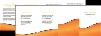 personnaliser modele de depliant 4 volets  8 pages  orange gris courbes MLIG58898