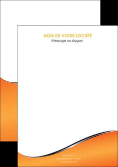 imprimer flyers orange gris courbes MLIG58900