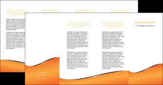 faire modele a imprimer depliant 4 volets  8 pages  orange gris courbes MLIG58902