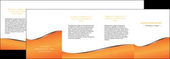 personnaliser modele de depliant 4 volets  8 pages  orange gris courbes MLIG58904