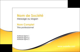 imprimer carte de visite jaune fond jaune colore MLIG58906