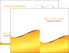 exemple carte de visite jaune fond jaune colore MLGI58916