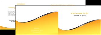 creer modele en ligne depliant 2 volets  4 pages  jaune fond jaune colore MLIG58922