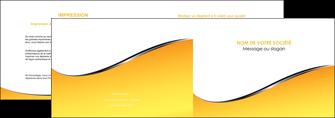 personnaliser maquette depliant 2 volets  4 pages  jaune fond jaune colore MLIG58924