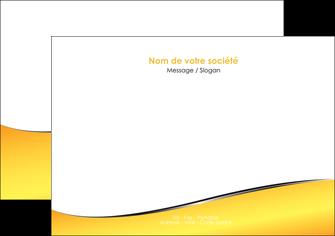 maquette en ligne a personnaliser flyers jaune fond jaune colore MLIG58930