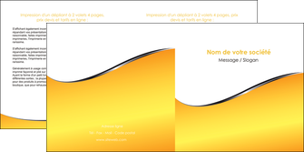 exemple depliant 2 volets  4 pages  jaune fond jaune colore MLGI58936