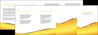 maquette en ligne a personnaliser depliant 4 volets  8 pages  jaune fond jaune colore MLIG58950