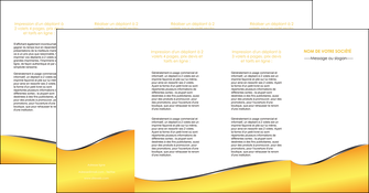 cree depliant 4 volets  8 pages  jaune fond jaune colore MLIG58954
