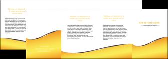 maquette en ligne a personnaliser depliant 4 volets  8 pages  jaune fond jaune colore MLGI58956