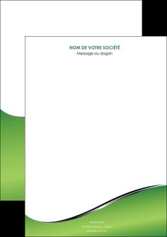 personnaliser maquette affiche vert fond vert colore MIF59244