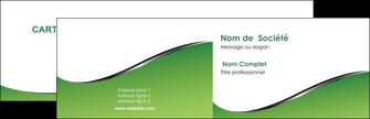 Commander Carte de visite dorure or argent metallique  Carte commerciale de fidélité modèle graphique pour devis d'imprimeur Carte de visite Double - Paysage