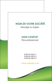 cree carte de visite vert fond vert colore MLIP59250