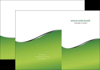 cree pochette a rabat vert fond vert colore MIF59252