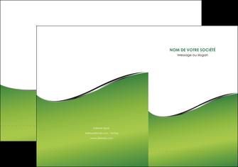 creer modele en ligne pochette a rabat vert fond vert colore MIF59254