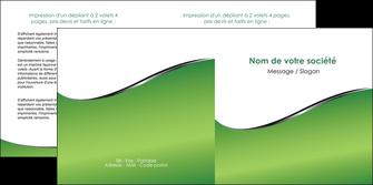modele depliant 2 volets  4 pages  vert fond vert colore MIF59270