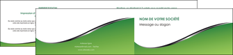 creer modele en ligne depliant 2 volets  4 pages  vert fond vert colore MIF59276