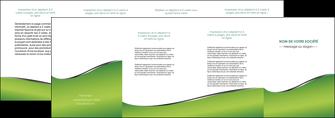 imprimerie depliant 4 volets  8 pages  vert fond vert colore MIF59282