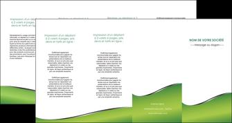imprimer depliant 4 volets  8 pages  vert fond vert colore MIF59286
