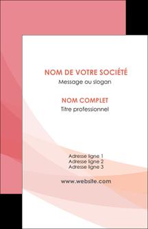 Maquette En Ligne A Personnaliser Carte De Visite Fond Rose Pastel Sobre MLGI59310