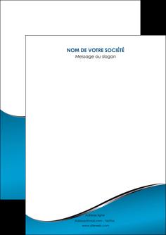 personnaliser maquette flyers bleu bleu pastel fond bleu MIF59354