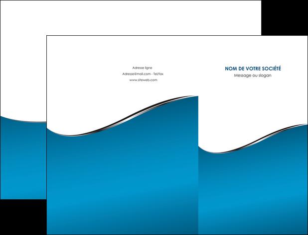 realiser pochette a rabat bleu bleu pastel fond bleu MLGI59364