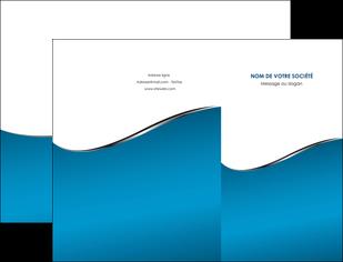 realiser pochette a rabat bleu bleu pastel fond bleu MIF59364
