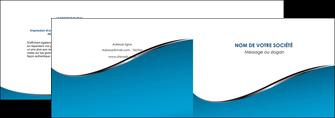 modele en ligne depliant 2 volets  4 pages  bleu bleu pastel fond bleu MIF59368