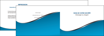 modele en ligne depliant 2 volets  4 pages  bleu bleu pastel fond bleu MLIG59370