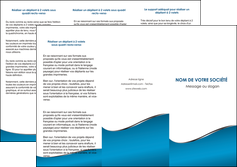 imprimerie depliant 3 volets  6 pages  bleu bleu pastel fond bleu MIF59378