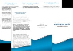 imprimerie depliant 3 volets  6 pages  bleu bleu pastel fond bleu MLIG59378