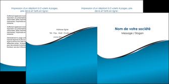 maquette en ligne a personnaliser depliant 2 volets  4 pages  bleu bleu pastel fond bleu MIF59382